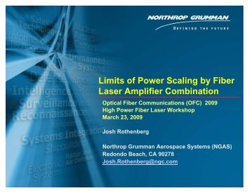 Limits of Power Scaling by Fiber Laser Amplifier ... - OFC/NFOEC