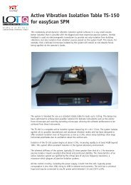 Active Vibration Isolation Table TS-150 for easyScan SPM