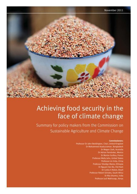 Achieving food security in the face of climate change - International ...
