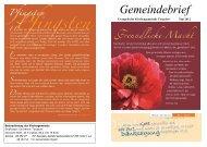 Gemeindebrief - Kirchenkreis Pasewalk