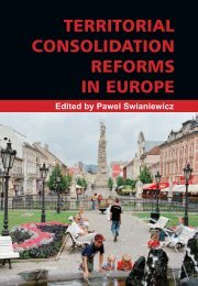 TERRITORIAL CONSOLIDATION REFORMS IN EUROPE - LGI