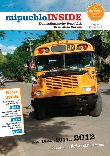 Nachrichten-Magazin mipuebloINSIDE, Februar 2012 - DomRepWorld