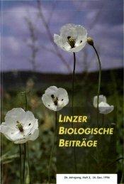 LlNZER BIOLOGISCHE BEITRÄGE - Oberösterreichisches ...
