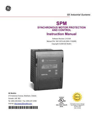 mif ii provides a new level of protection for ge digital energy rh yumpu com ge multilin mif ii relay manual multilin mif ii digital feeder relay manual