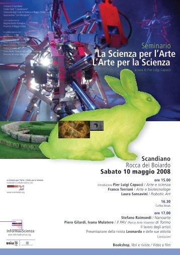 La Scienza per l'Arte L'Arte per la Scienza - Noema