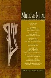 cilt: 8 sayı: 1 Ocak - Nisan'11 Levent ÇAVUŞ Vahye ... - Milel ve Nihal