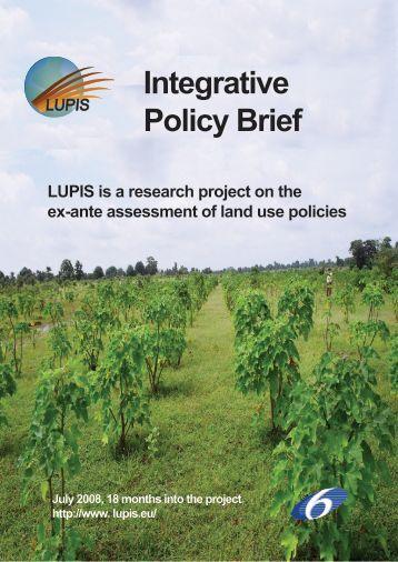 Integrative Policy Brief
