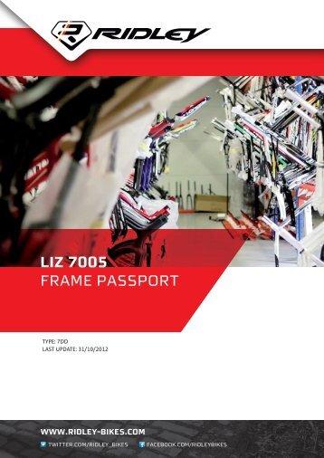 Liz 7005 frame passport - Ridley