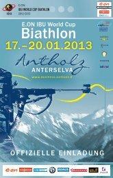 Ausschreibung (download .pdf) - Biathlon Antholz