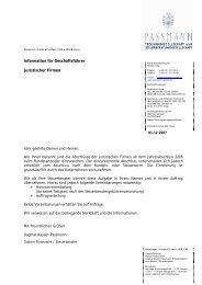 Information für Geschäftsführer juristischer Firmen - Metax ...