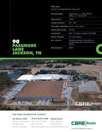 PASSMORE LANE JACKSON, TN - CBRE