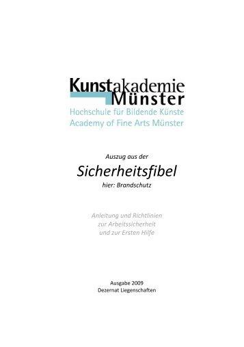 Sicherheitsfibel: Brandschutz - Kunstakademie Münster