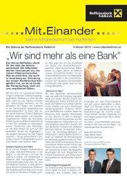 NEU: Ausgabe Frühjahr 2012 - Raiffeisenbank Feldkirch