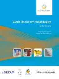 Inglês Técnico - Rede e-Tec Brasil - Ministério da Educação