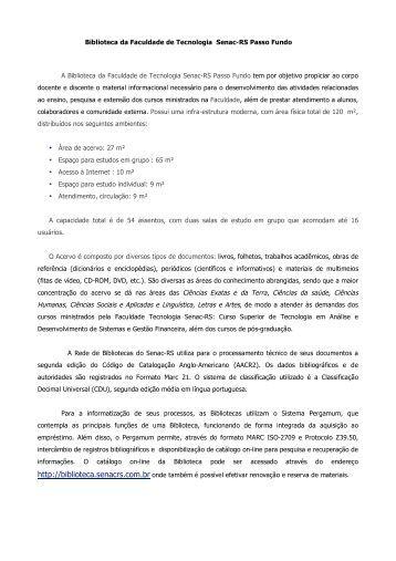 FATEC PASSO FUNDO - Senac-RS