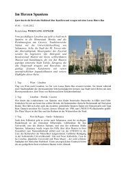 Im Herzen Spaniens - Reisegourmet