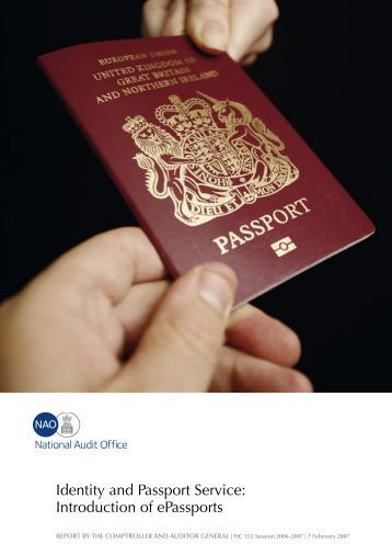 Identity and Passport Service: Introduction of ePassports. - Statewatch
