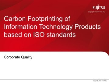 Product Carbon Footprint Project at Fujitsu Technology Solutions