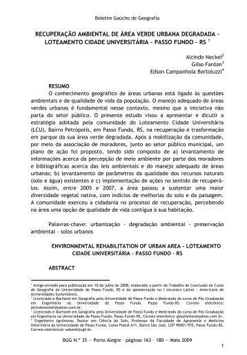 Recuperação ambiental de área verde urbana degradada - Webnode