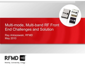 Multi-mode, Multi-band RF Front End Challenges and Solution