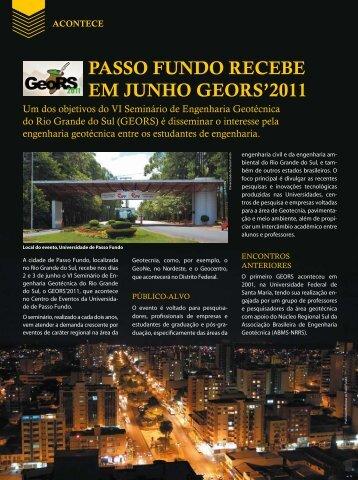 passo fundo recebe em junho geors'2011 - Revista Fundações ...
