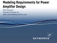 Device Modeling Requirements for Power Amplifiers