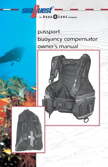 passport buoyancy compensator owner's manual - Hollywood Divers