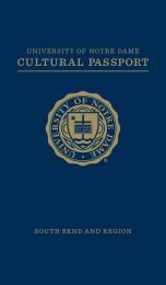 CULTURAL PASSPORT - Graduate School - University of Notre Dame