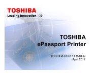 Toshiba Passport Printer - ICAO
