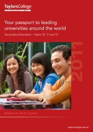 Your passport to leading universities around the ... - Taylors College