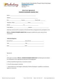 Entry Form Agreement FASHION DESIGNERS AWARD 2012