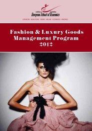 Fashion & Luxury Goods Management Program 2012