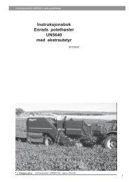 Instruksjonsbok Enrads potethøster UN5640 med ... - TKS AS