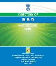 Directory of R&D Institutions - 2010 - Department of Science and ...