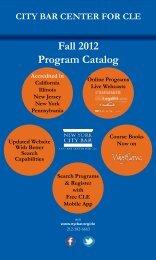 Download the Fall 2012 Catalog - New York City Bar Association