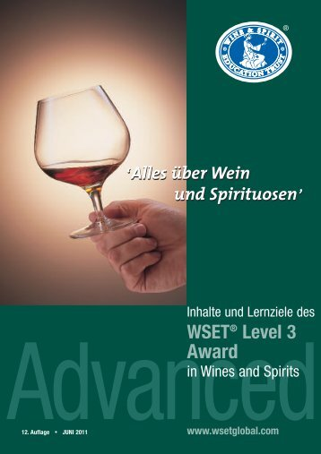 German Level 3 Award in Wines and Spirits - Wine & Spirit ...