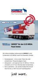 VARIOS® für den S.CS MEGA. Passt immer. - Schmitz Cargobull AG
