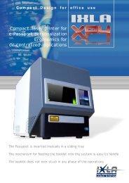 Compact laser printer for e-Passport personalization ... - IXLA
