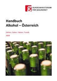 Handbuch Alkohol – Österreich - Bundesministerium für Gesundheit