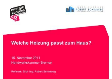 Welche Heizung passt zum Haus (2011-11-15) .pps