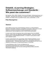 Didaktik,e Learning - Peter Baumgartner