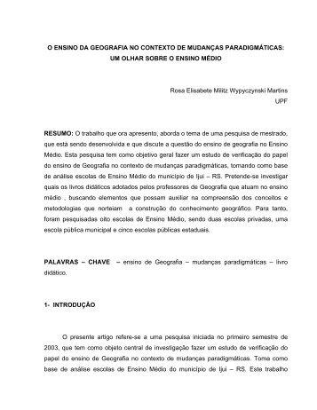 UNIVERSIDADE DE PASSO FUNDO - Portal ANPED SUL