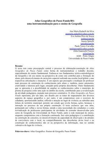 Atlas Geográfico de Passo Fundo/RS - EGAL 2009 - Programa on-line