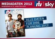 Mediadaten 2012 - Rtv-mediasolutions.de