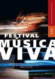 Programa Festival Música Viva 2008 - Centro Cultural de Belém