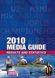 RESULTS AND STATISTICS - World Rowing