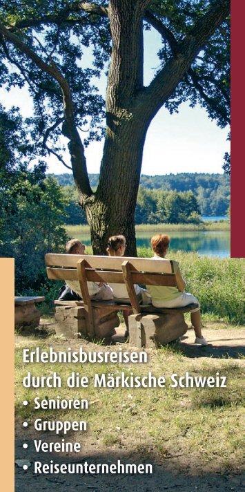 Pauschalangebot für Gruppen - Märkische Schweiz