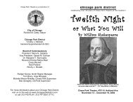Twelfth Night, or What You Will - Chase Park Theater's