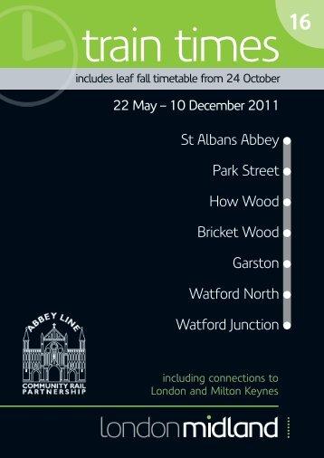 St Albans Abbey Park Street Bricket Wood ... - London Midland