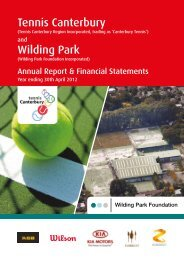 2011/12 Report - Canterbury Tennis